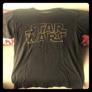 Dark gray Star Wars logo T-shirt